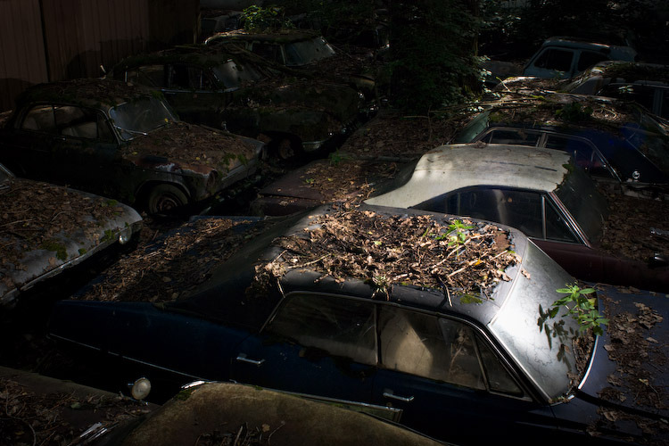 Car cemetery, Kaufdorf, Switzerland