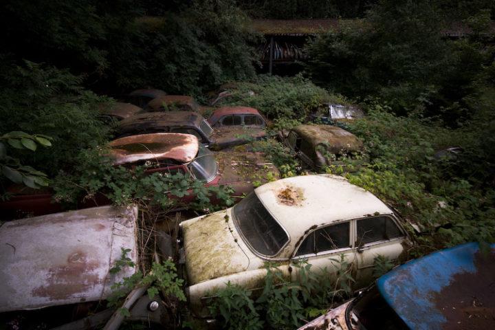Car cemetery, Kaufdorf, Switzerland