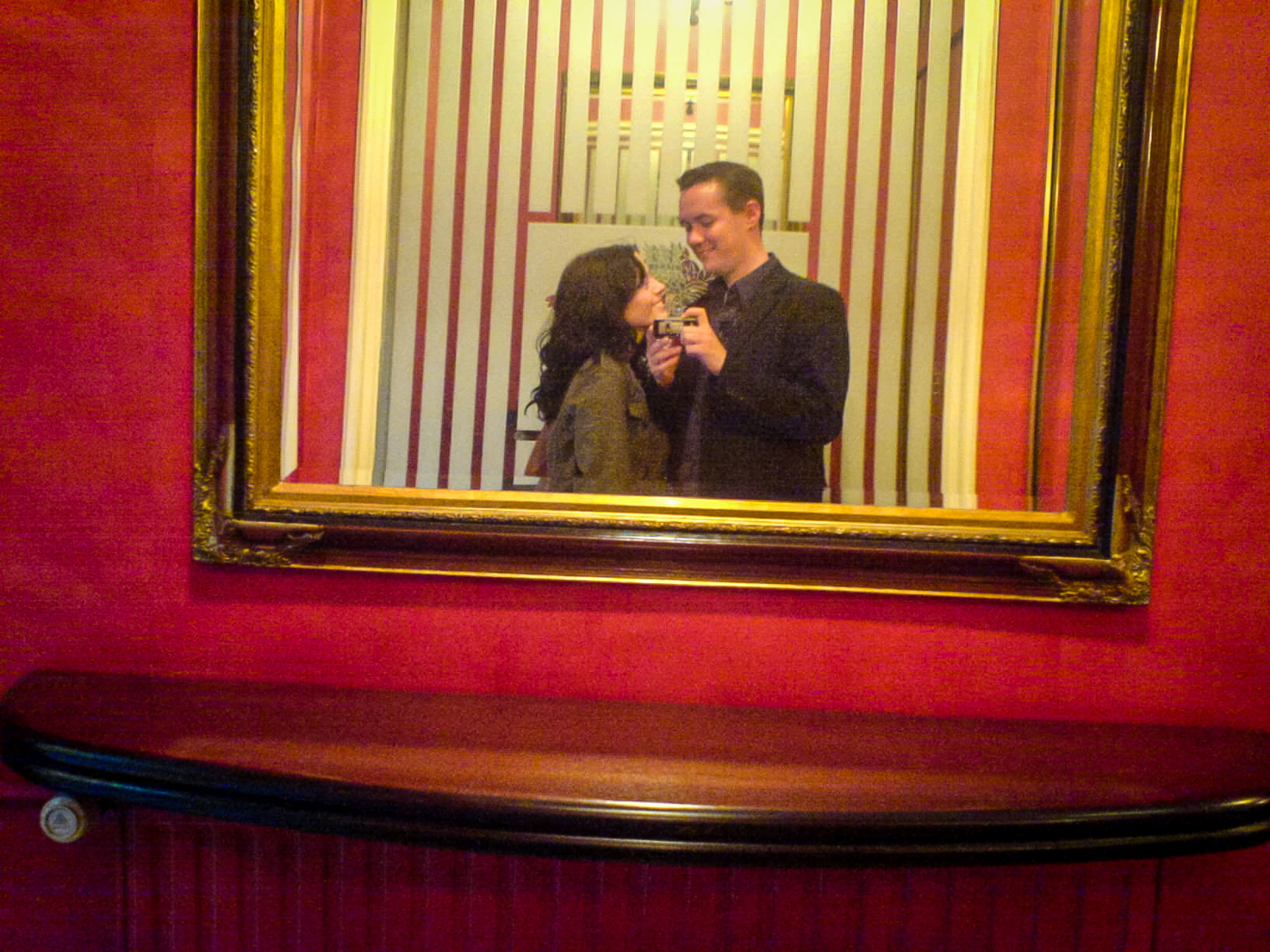 Self portrait with Jo in a hotel in Reims, France, 2006