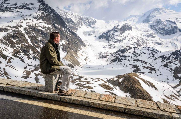 Self-portrait on the Susten Pass