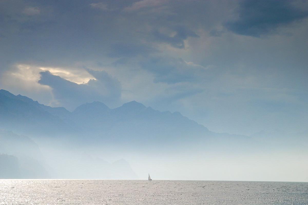 Sailboat on Lake Brienz
