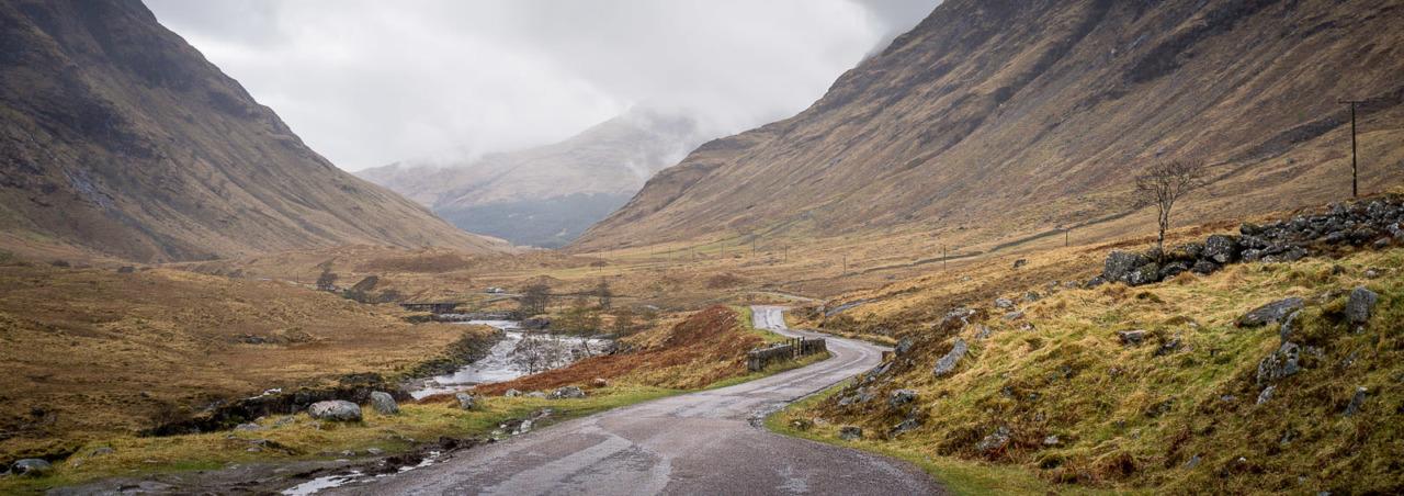 Glen Etive, location for the James Bond film Skyfall