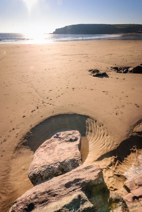 Rock pools on the beach
