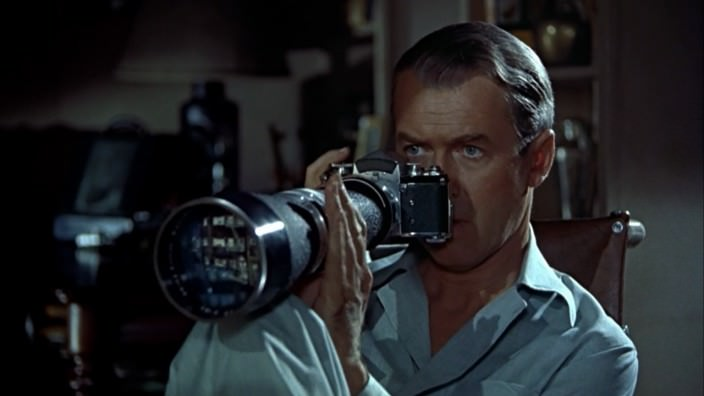 "Jimmy Stewart in ""Rear Window"""