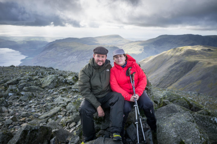 Jo and me on the summit of Great Gable