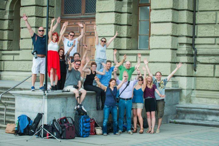 Workshop attendees, Polyterrasse Zurich, 2015
