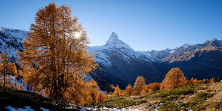 Matterhorn from Riffelalp in autumn