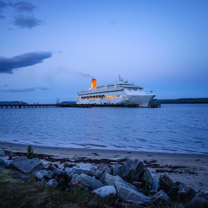 MS Oriana in dock at Invergordon, Scotland