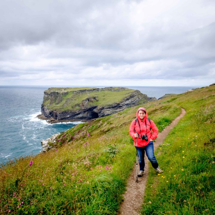 Jo at Tintagel