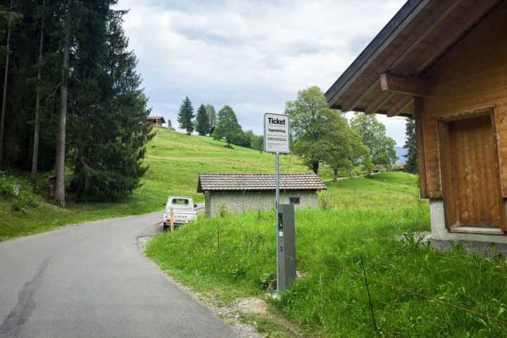 Ticket machine, Waldegg, Beatenberg, Switzerland
