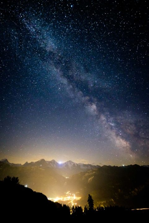 Milky Way over Interlaken, Switzerland