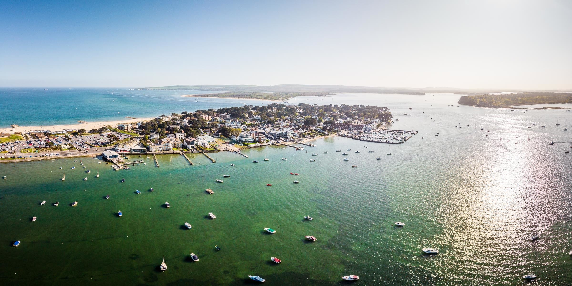 Sandbanks and Poole harbour in Dorset