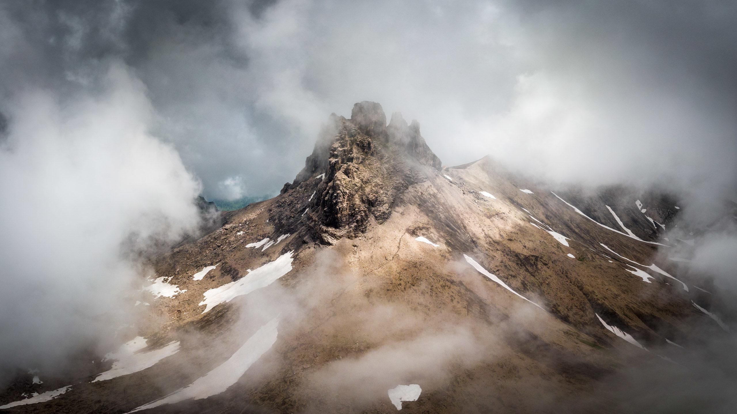 Panoramic aerial photograph of the Tschingellochtighorn in Switzerland