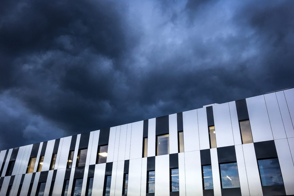 Dark clouds over Thun's Panorama shopping centre