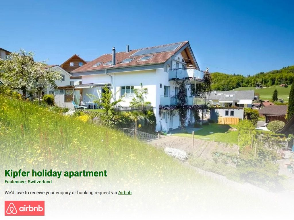 Screenshot of Kipfer holiday apartment, Faulensee, Switzerland
