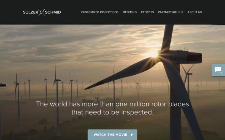 Screenshot of the Sulzer Schmid website