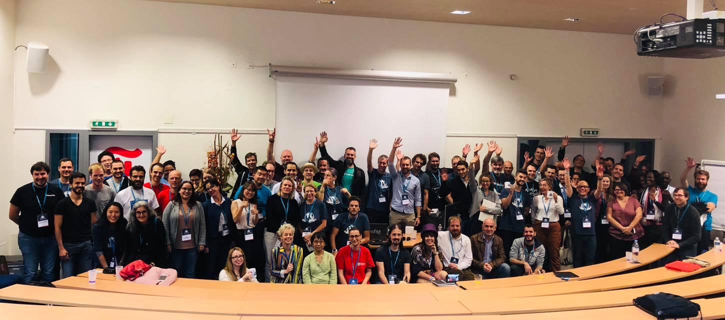The team and presenters at WordCamp Lausanne 2018