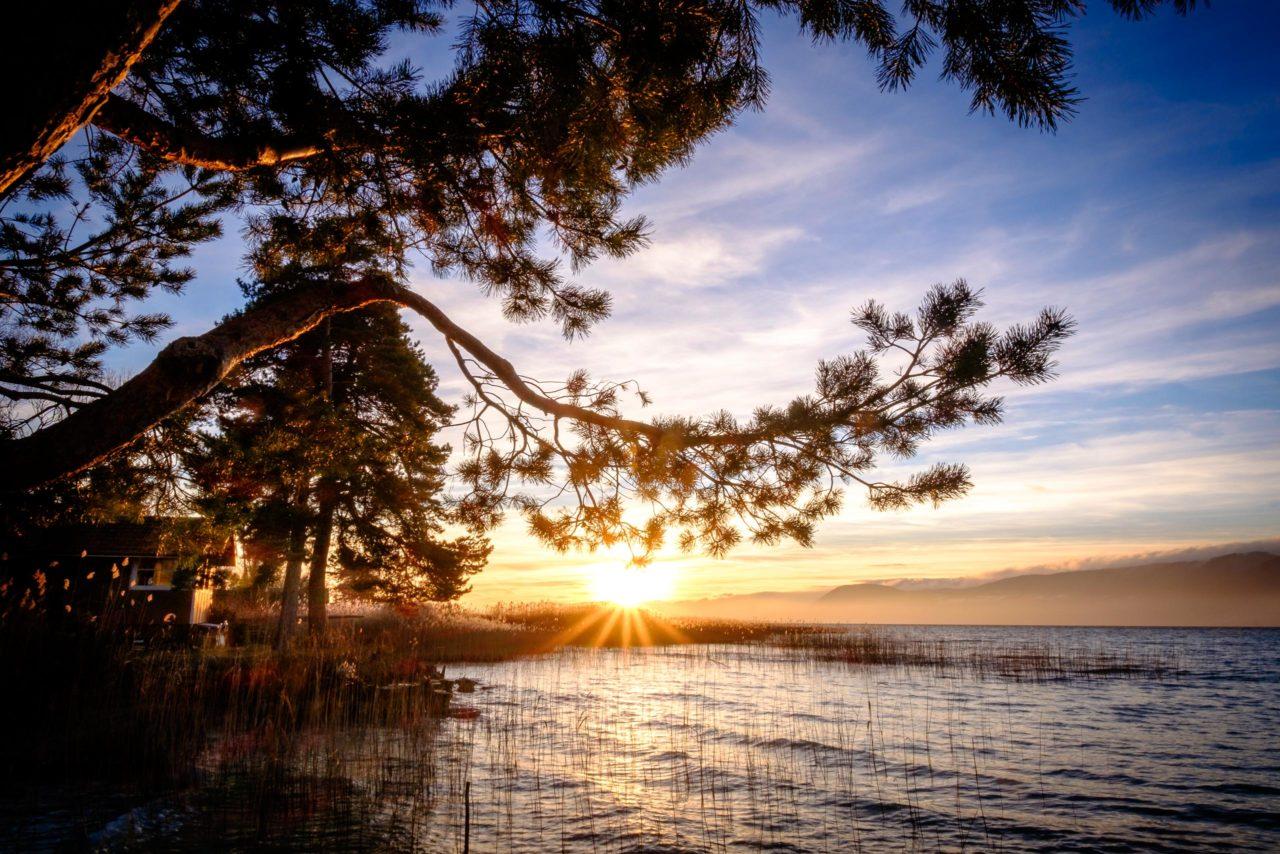 Sunset at Delley-Portalban