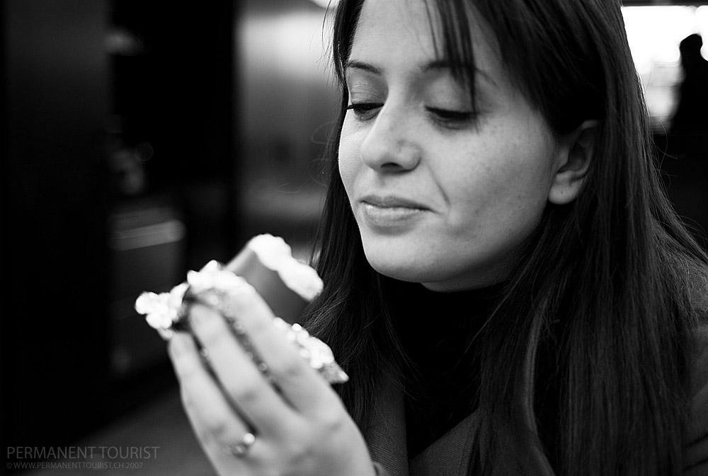 Jo, black and white, teacake, Leica