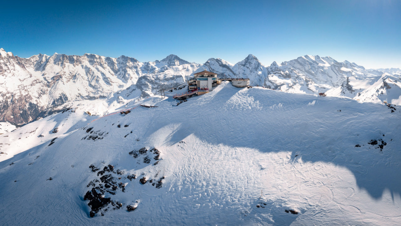 Piz Gloria mountain station, high in the Bernese Alps in Switzerland