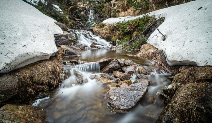 Small cascades in the forest above Beatenberg