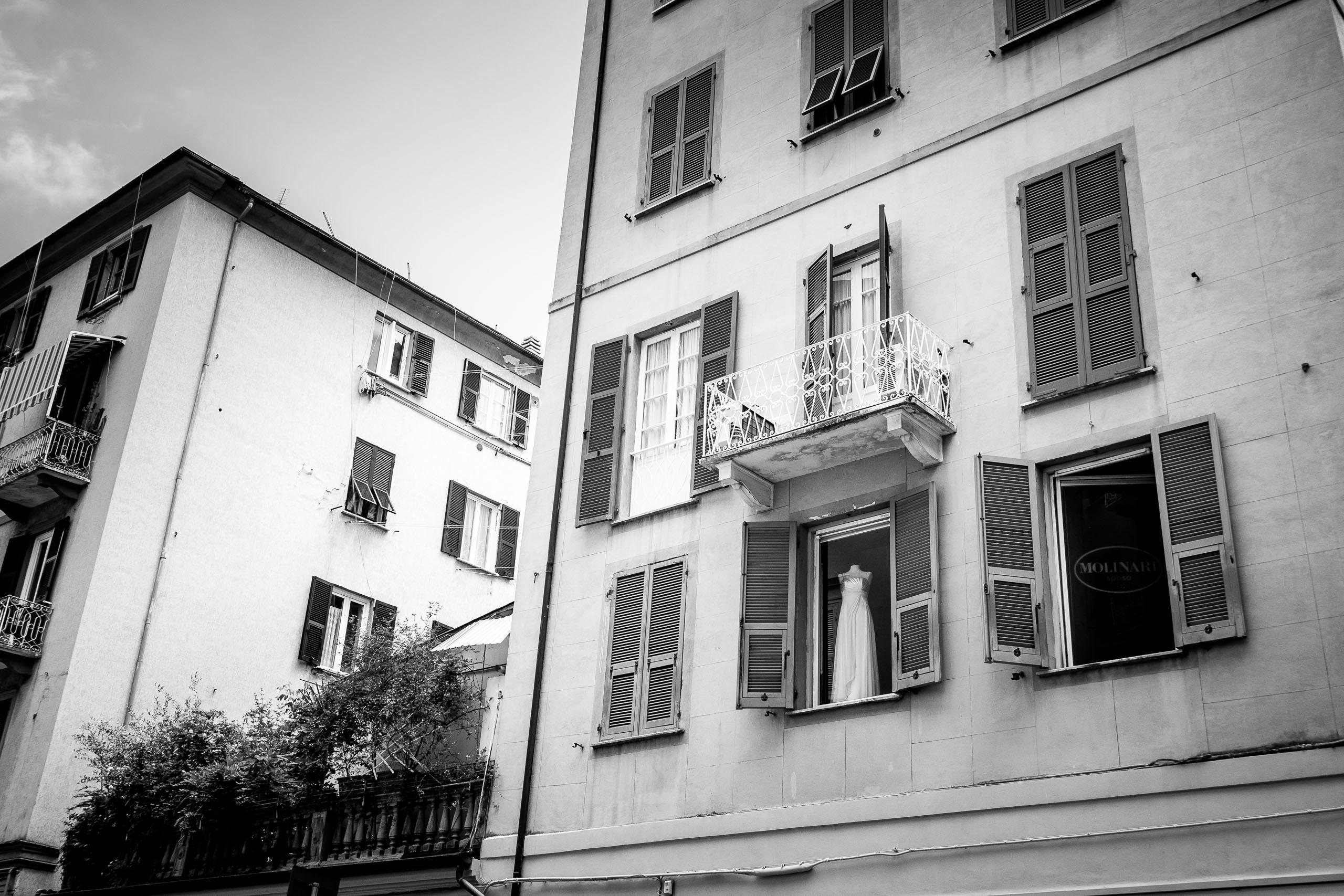 Street scene in La Spezia, Italy