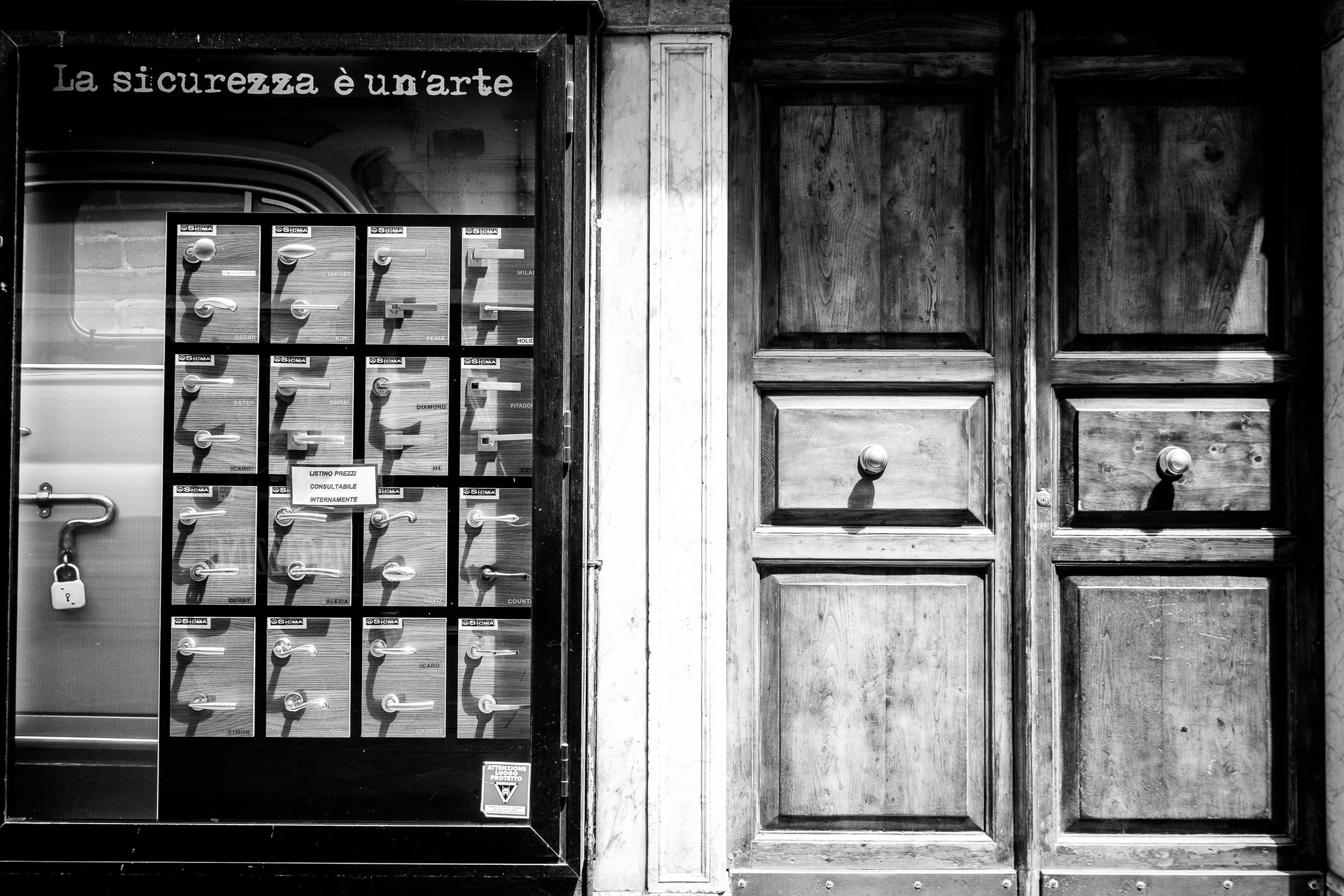 Shop fronts in La Spezia, Italy