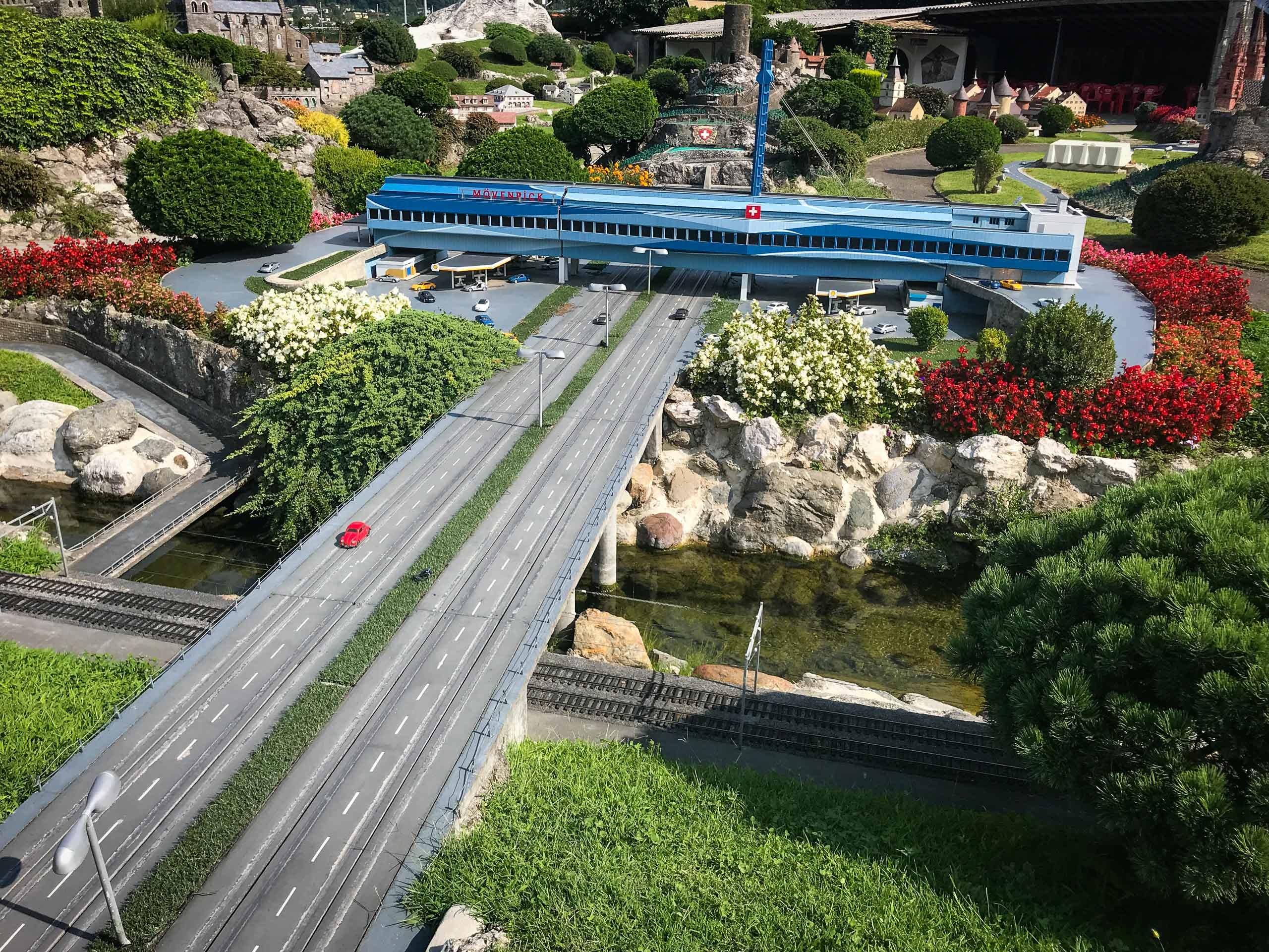 Model of Würenlos motorway services