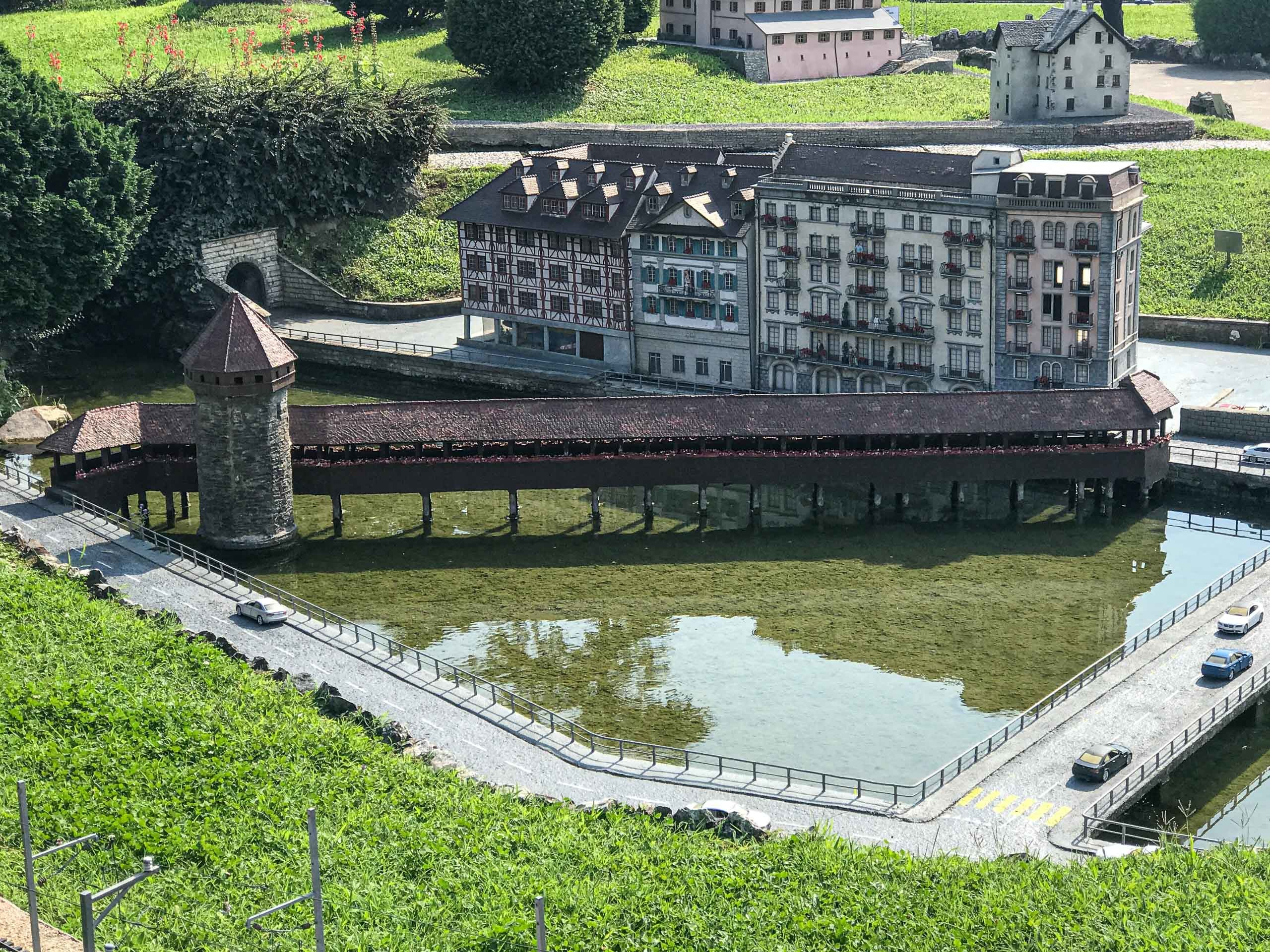 Model of the Chapel Bridge in Lucerne