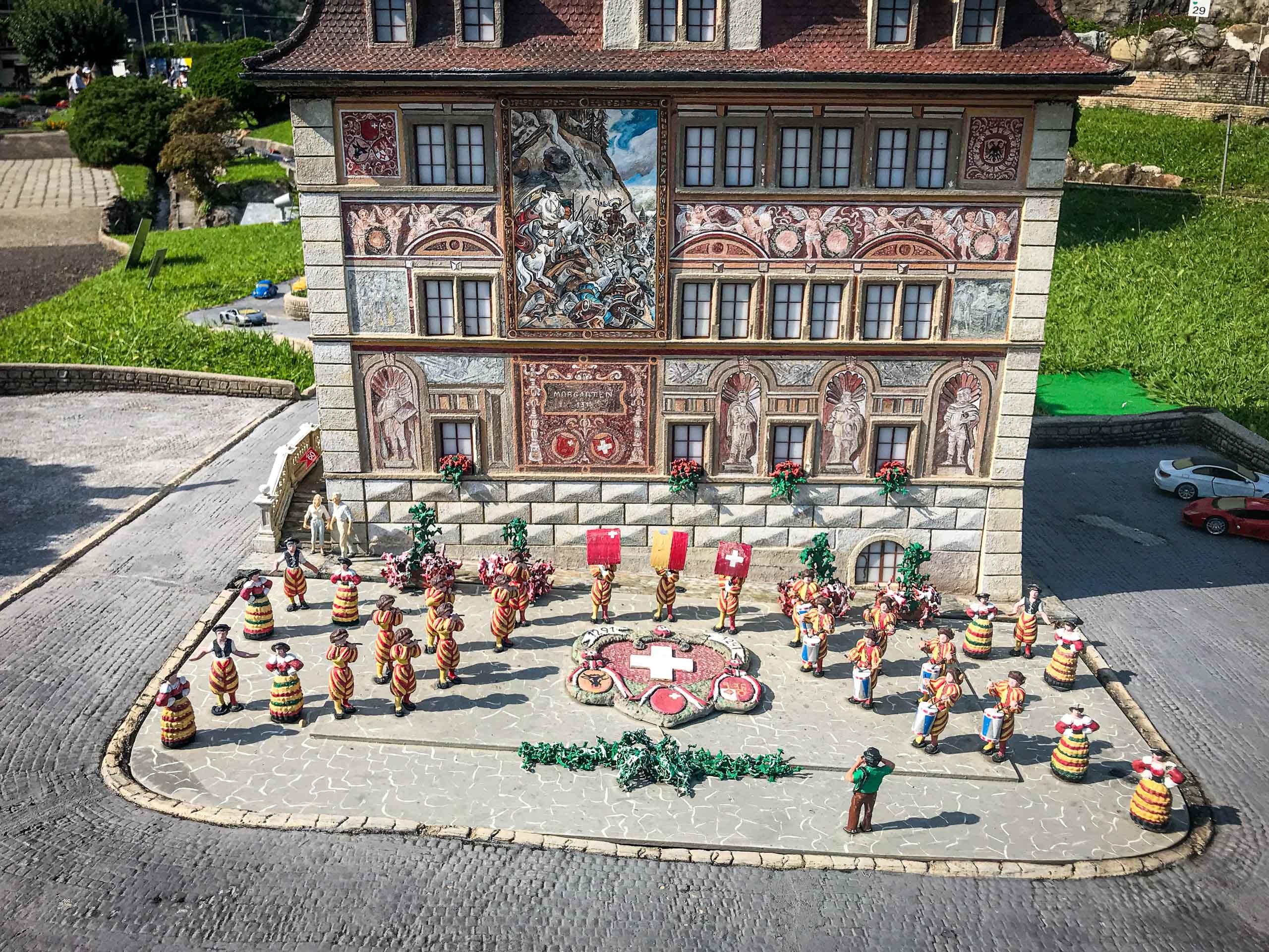 Model of Schwyz town hall