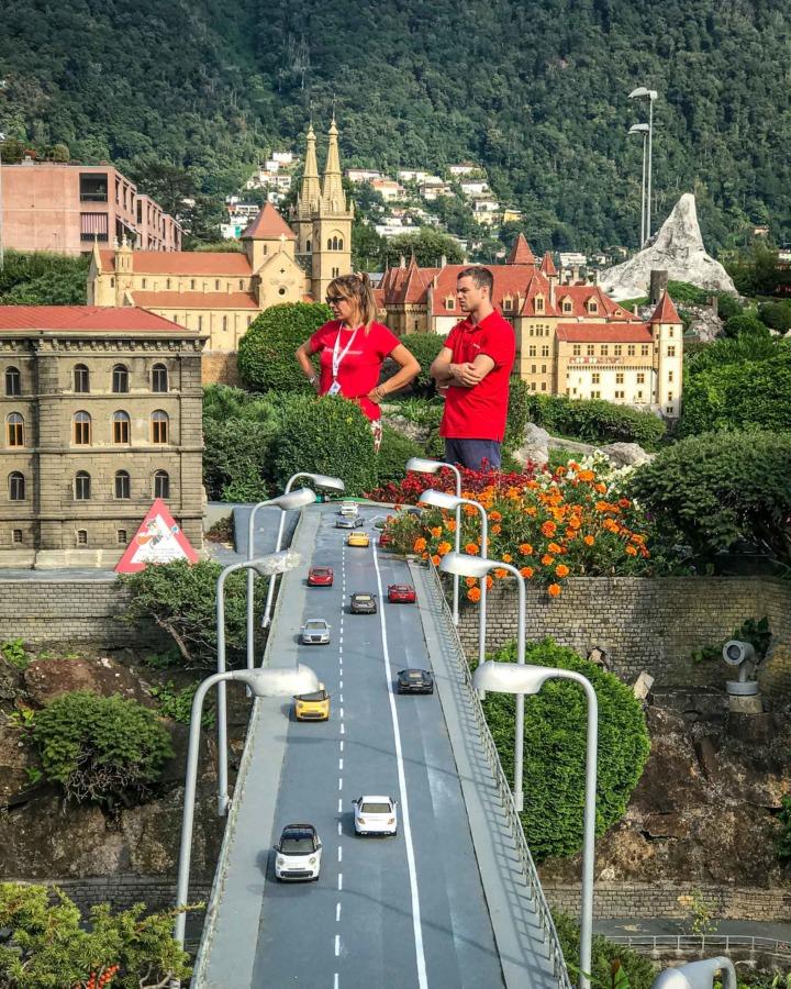 Staff at the Swissminiatur village in Switzerland