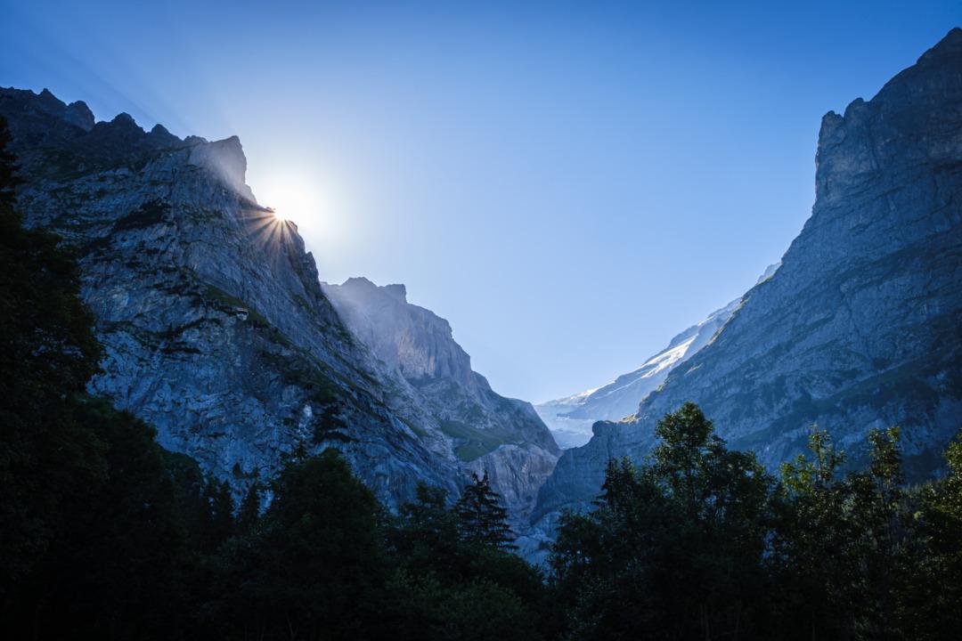 Sunrise above the Upper Grindelwald Glacier