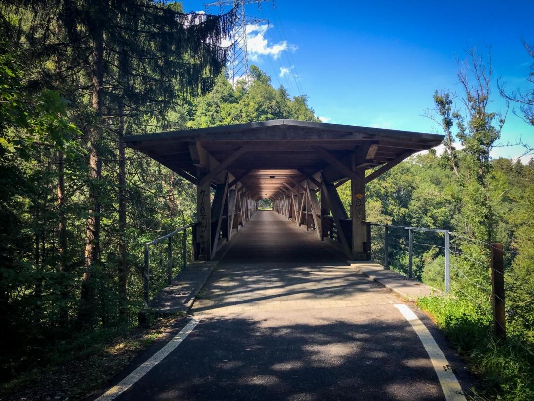 Wooden bridge, Wimmis