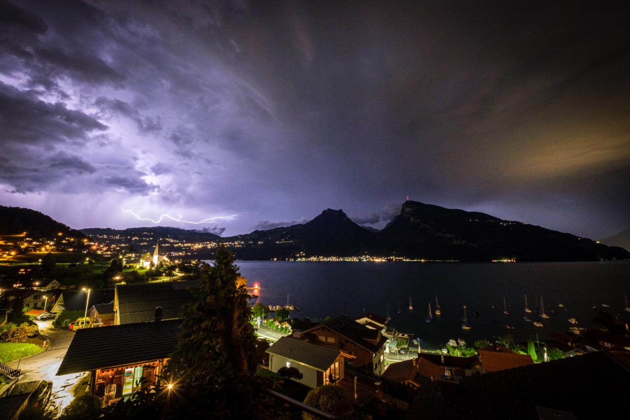 Lightning over Sigriswil
