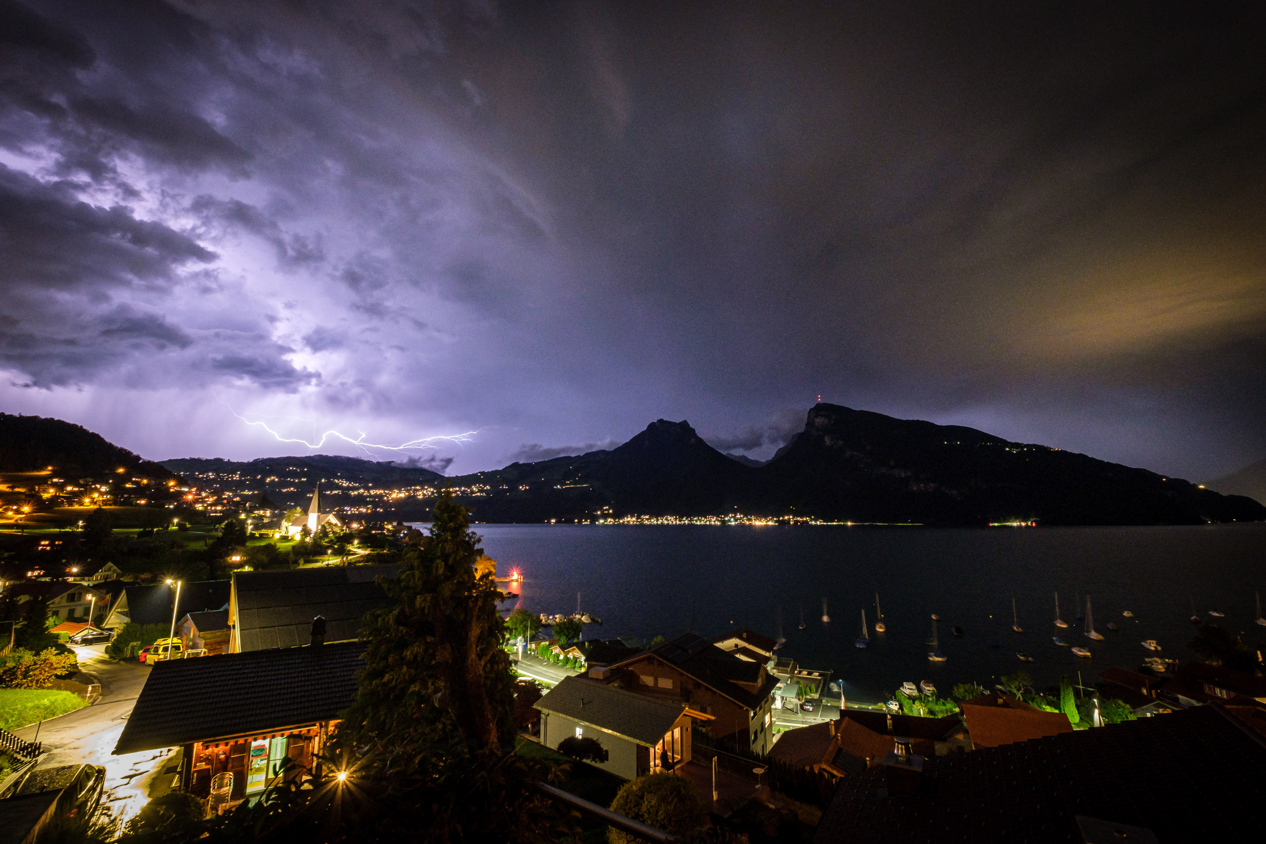 Lightning over Sigriswil