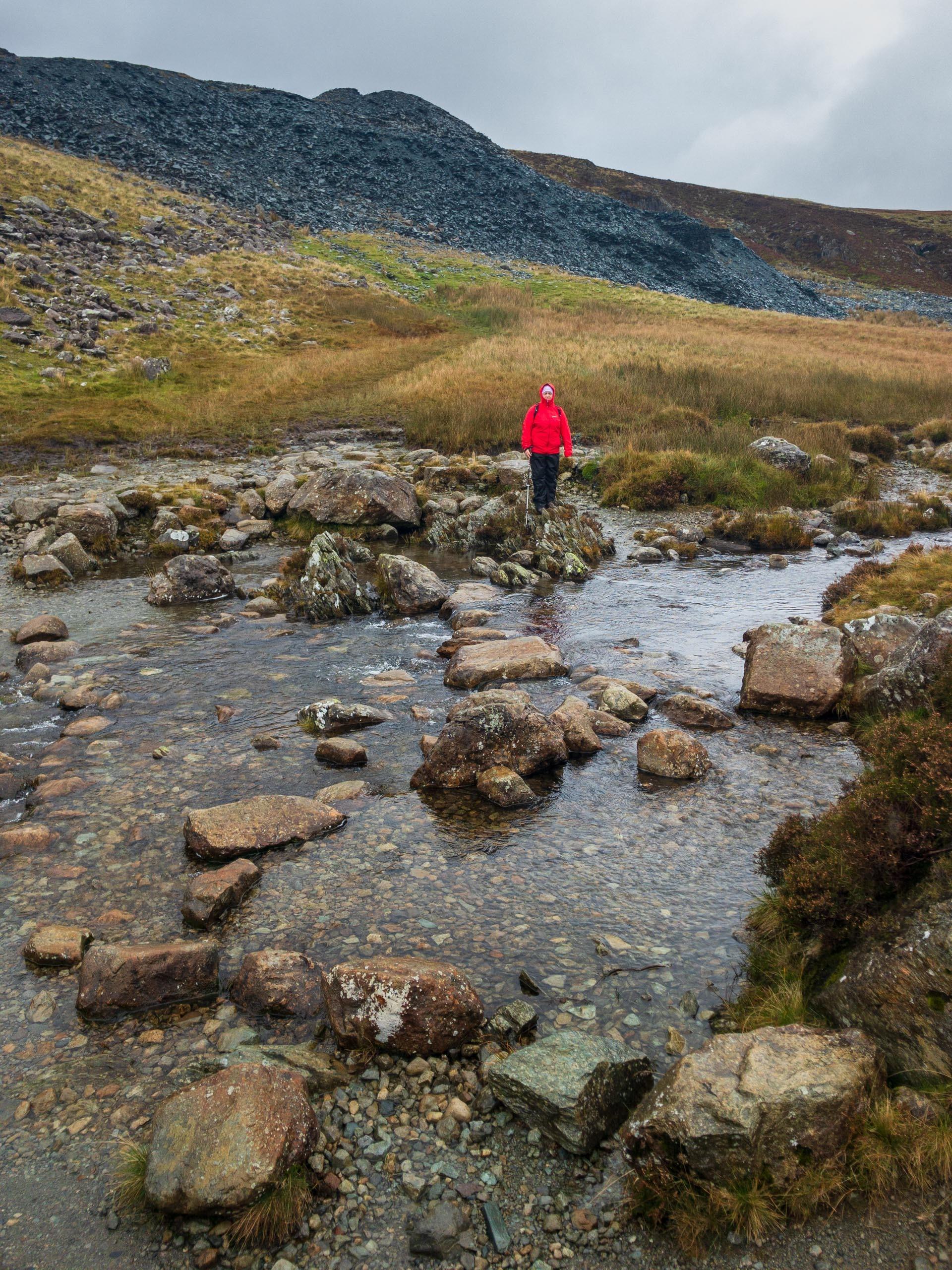 Jo crossing Warnscale Beck