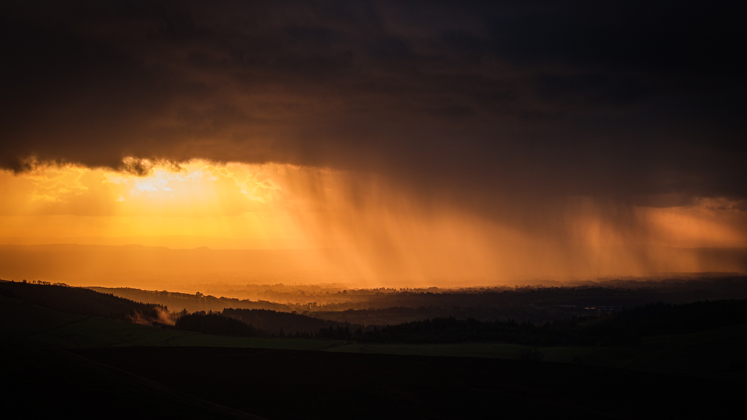Rain storm over Macclesfield