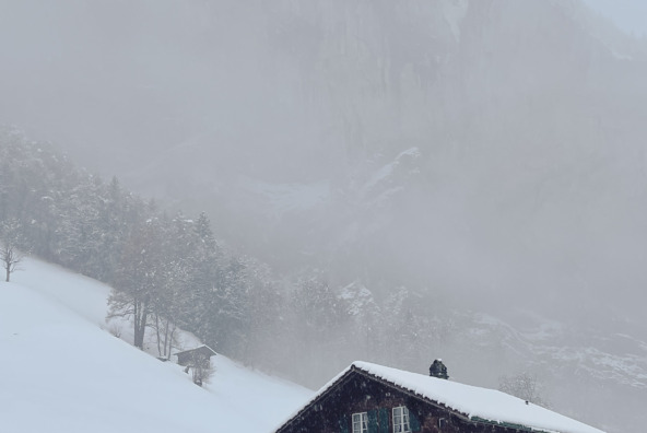 Snow in Lauterbrunnen