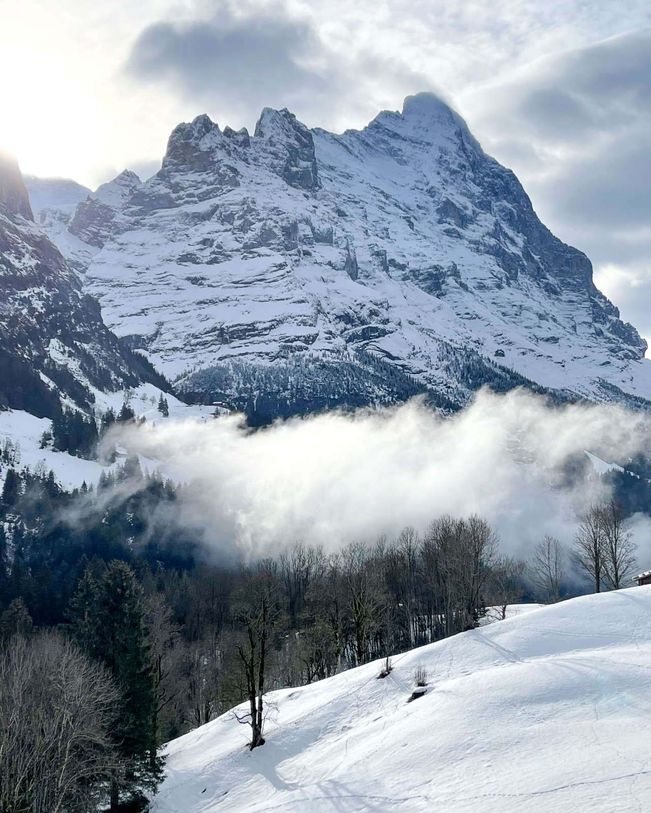 Eiger in winter