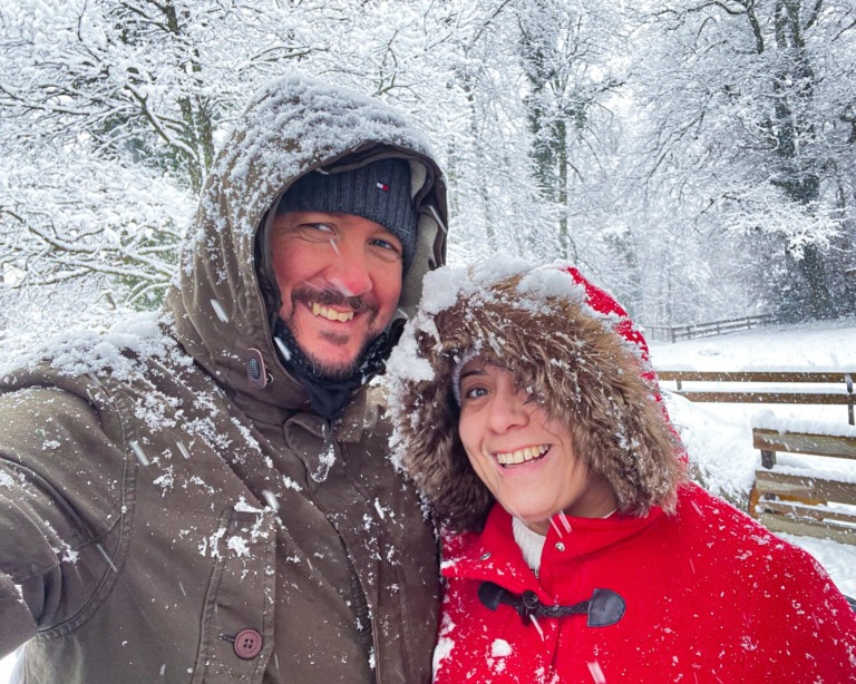 Christmas day in the snow at Ballenberg