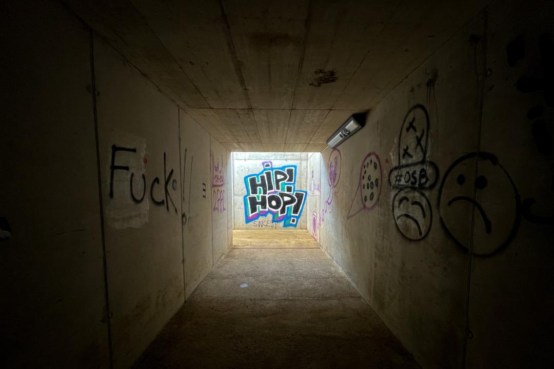 Graffiti at Le Noirmont train station