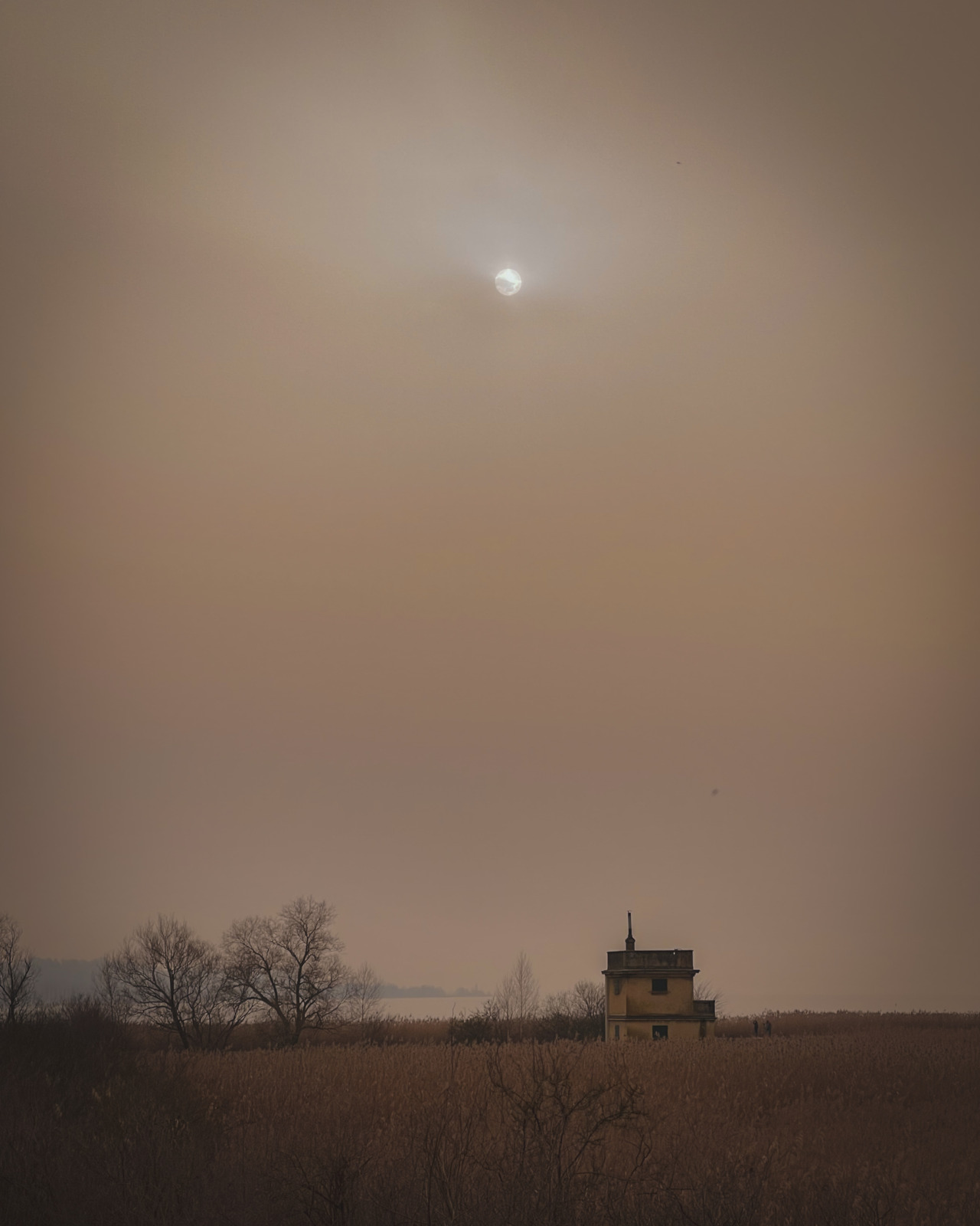 Sahara dust in the air at Fanel