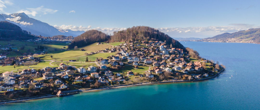 Faulensee from the air