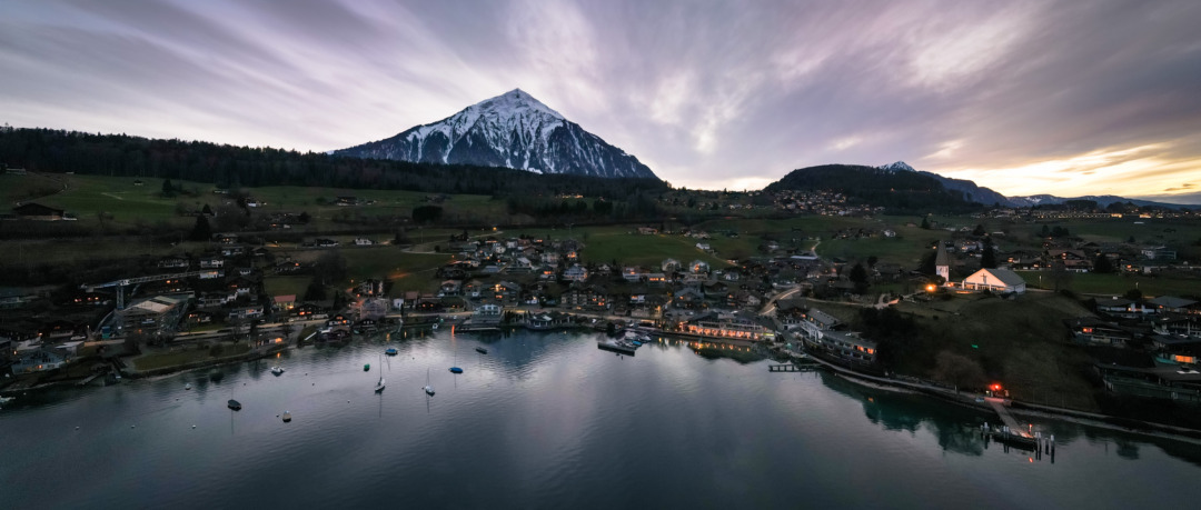 Dusk in Faulensee