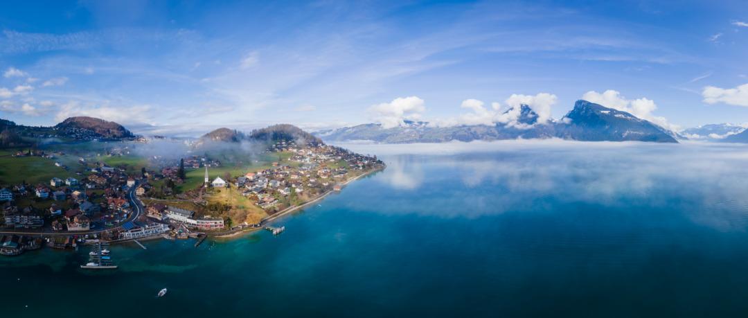 Mist on Lake Thun