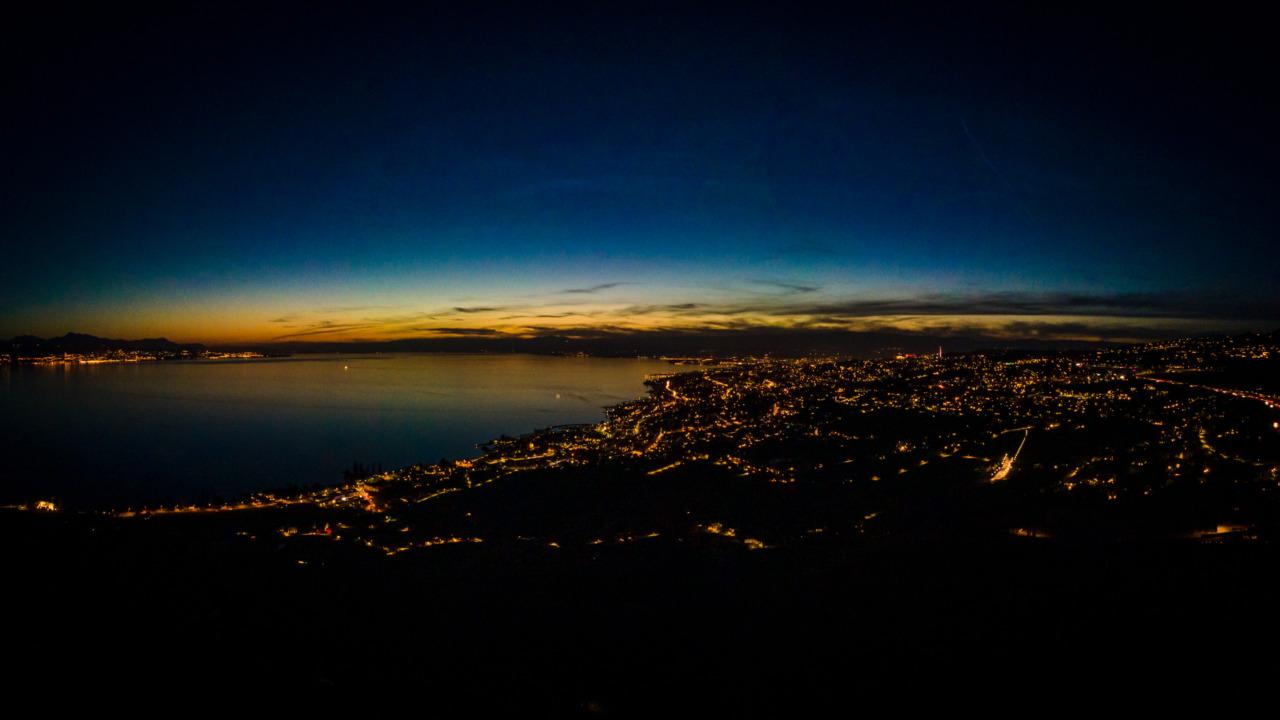 Lac Léman at sunset