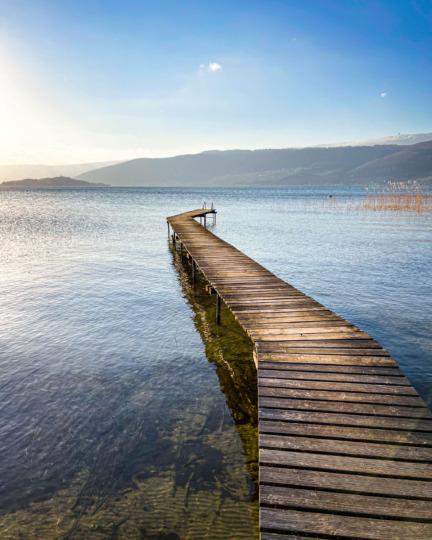 Jetty on Lake Biel