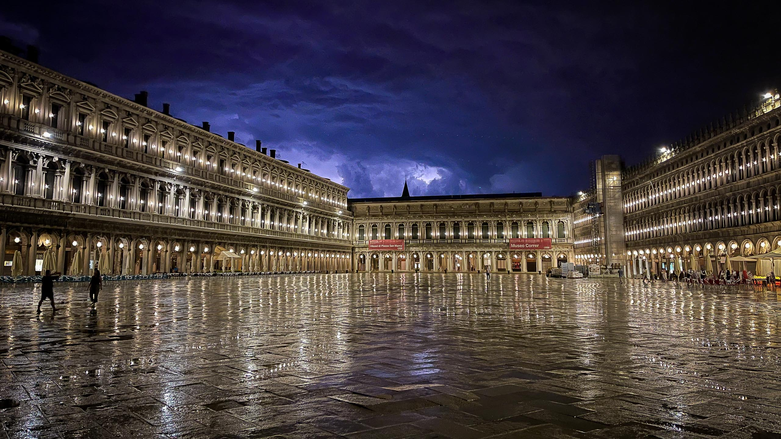 Lightning above Piazza San Marco in Venice