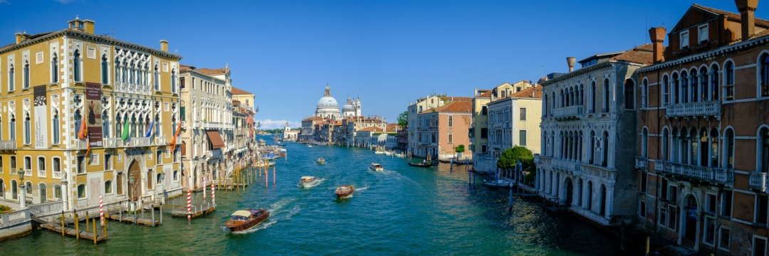 Grand Canal, Venice, photographed from the Ponte dell'Accademia