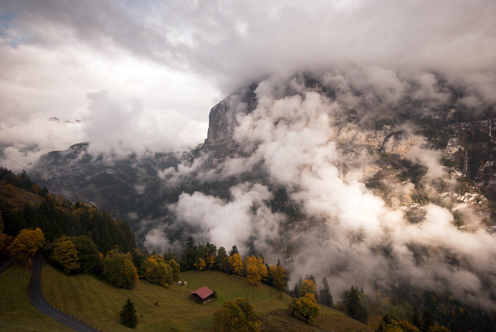 Clearing Clouds over the Lauterbrunnen Valley